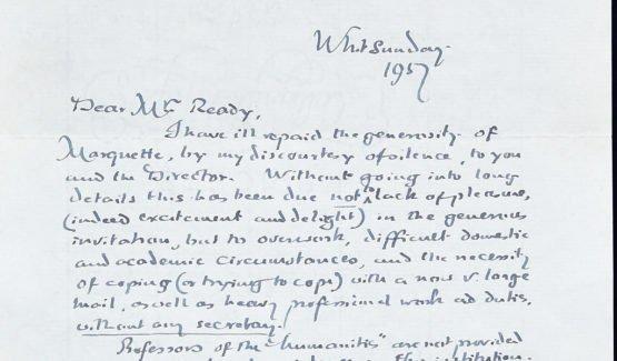 Ein Brief Tolkiens aus dem Jahr 1957.