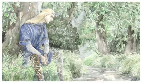 Finrod listens to the counsel of Ulmo.