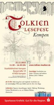 Tolkien Lesefest Kempen 2015 Flyer