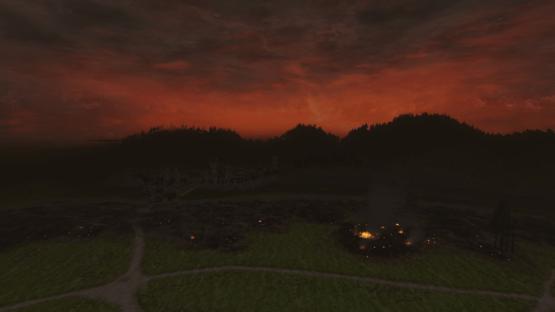 HdRO - Blick von Minas Tirith Richtung Mordor