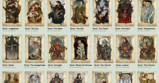 Tolkien inspirierte Tarotkarten