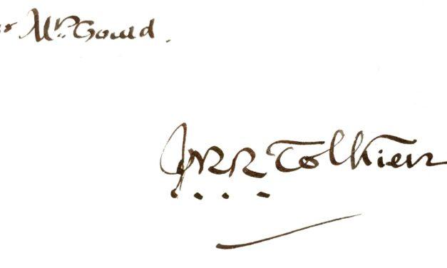 Seltene Tolkien-Unterschrift wird versteigert