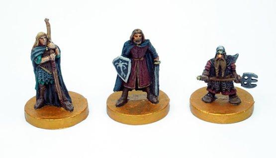 Legolas, Boromir, Gimli (bemalt)