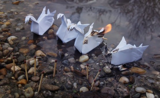 The Burning of Swanships from Mirach Ravaia