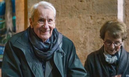 Christopher Tolkien besucht die Wandteppiche