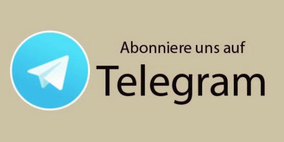 Abonniere uns auf Telegram