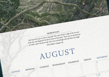 Zwei Tolkien Kalender für 2020