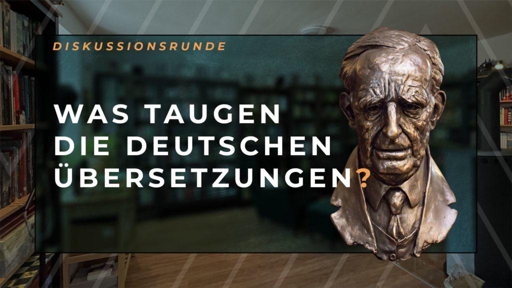 20 Jahre nach Krege: Was taugen die deutschen Übersetzungen? ‒ Diskussionsrunde am 20. Oktober 2021