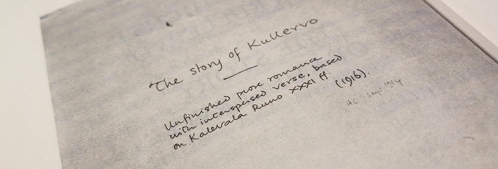 Kullervo - Tolkien-Handschrift
