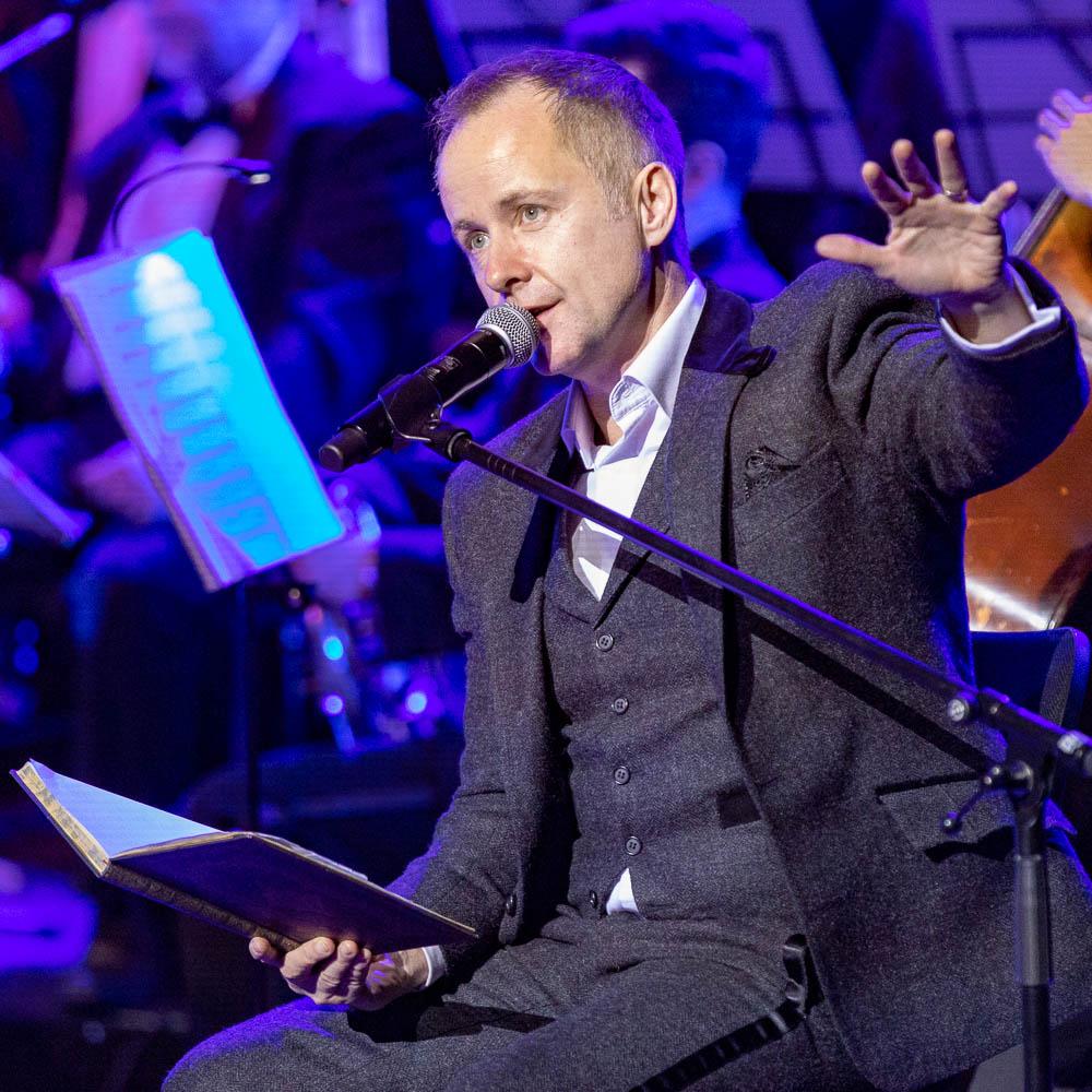 Billy Boyd während des Konzertes des Tolkien Ensemble in München