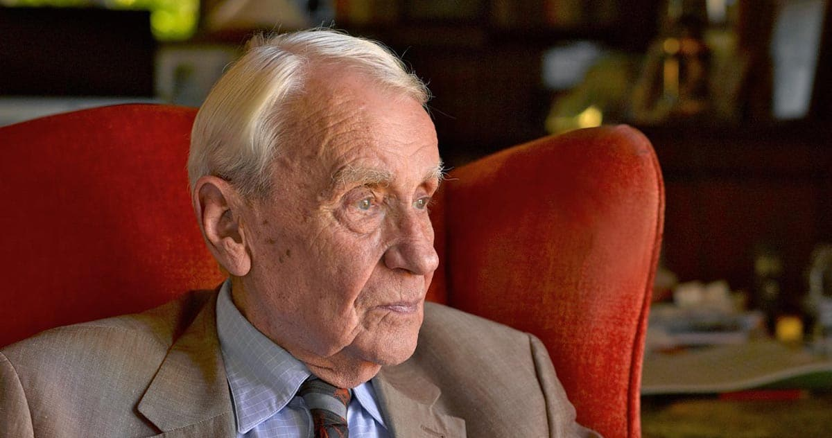 Christopher Tolkien - Credit François Deladerrière - © The Tolkien Estate Limited 2016