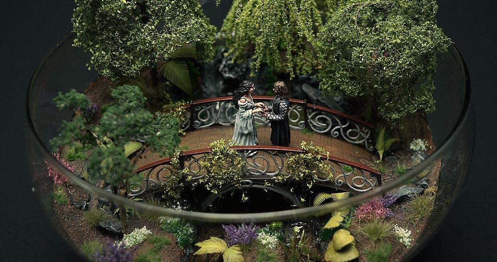 Arwen und Aragorn im Miniaturformat