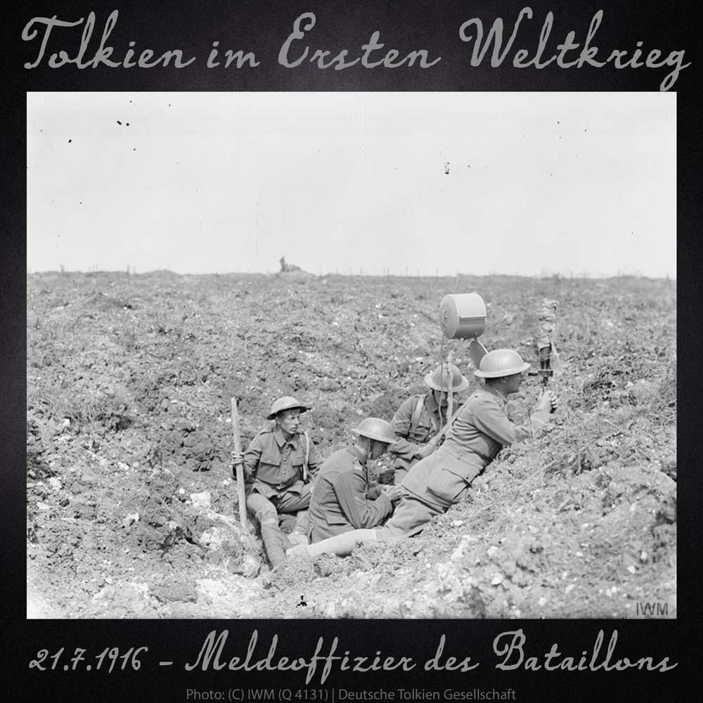 21.7.1916 Meldeoffizier des Bataillons