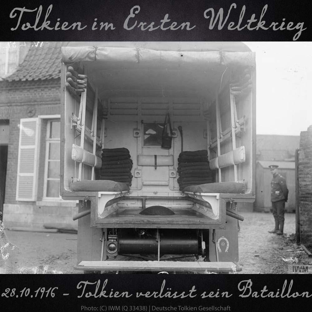 28.10.1916 Tolkien verlässt sein Bataillon