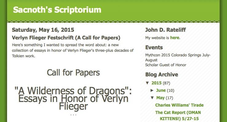 Call for Papers: Festschrift für Verlyn Flieger